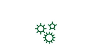 Cataract risk factor disease germ icon